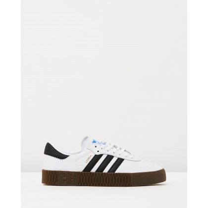 Sambarose - Women's Footwear White, Core Black & Gum by Adidas Originals