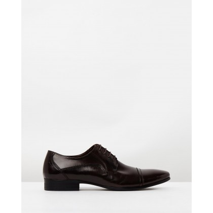 Samuel Leather Lace Shoes Brown by Double Oak Mills