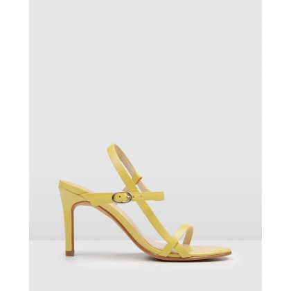 Sanity High Sandals Yellow Leather by Jo Mercer