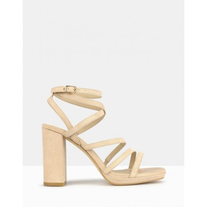 Sapphire Platform Sandals Nude by Betts