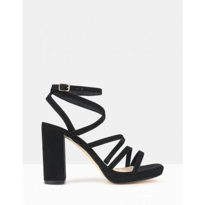 Sapphire Platform Sandals Black by Betts