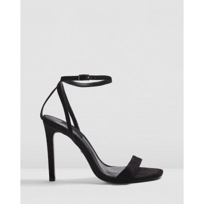 Saskia Skinny Heels Black by Topshop
