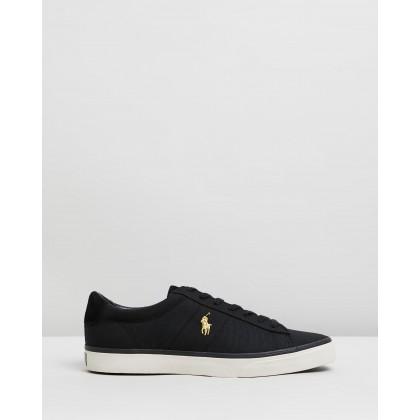 Sayer Sneakers - Men's Black & Gold by Polo Ralph Lauren