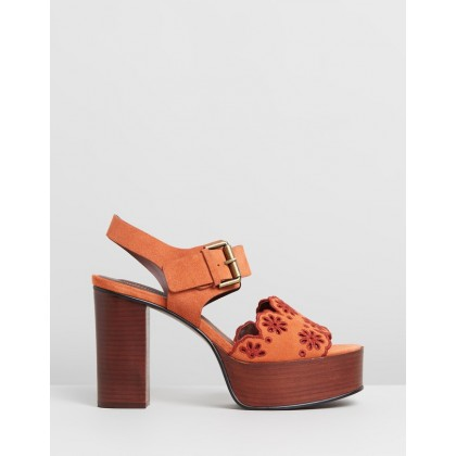 Scalloped Edge Platforms Tan by See By Chlo??