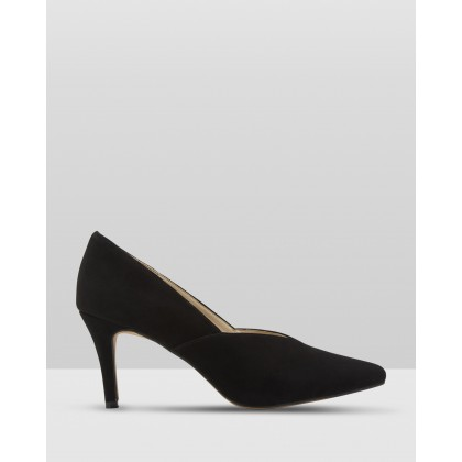 Scarlette Suede Court Shoes Black by Oxford