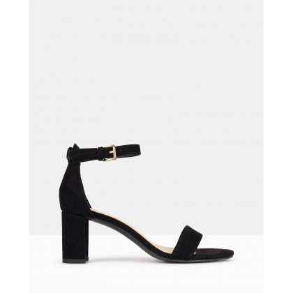 Seduce Low Block Heels Black by Betts