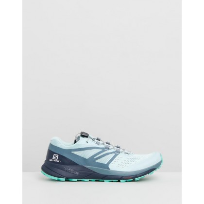 Sense Ride 2 - Women's Icy Morning, Navy Blazer & Electric Green by Salomon