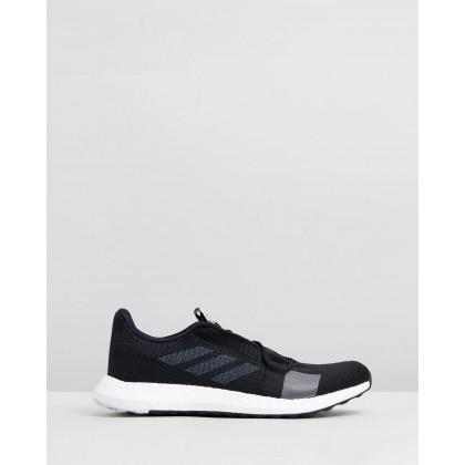 Senseboost Go - Men's Core Black, Grey Five & Footwear White by Adidas Performance