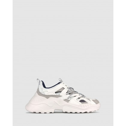 Shadow Chunky Lifestyle Sneakers White by Zu