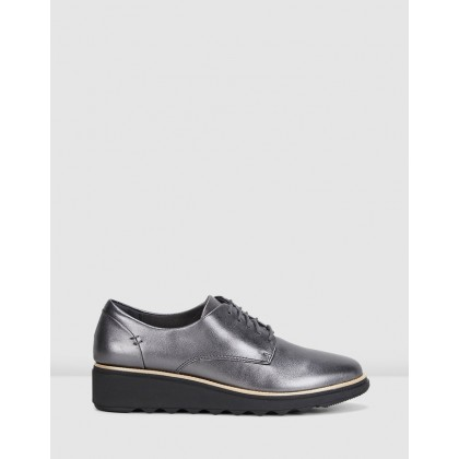 Sharon Noel Gunmetal Metallic Leather by Clarks