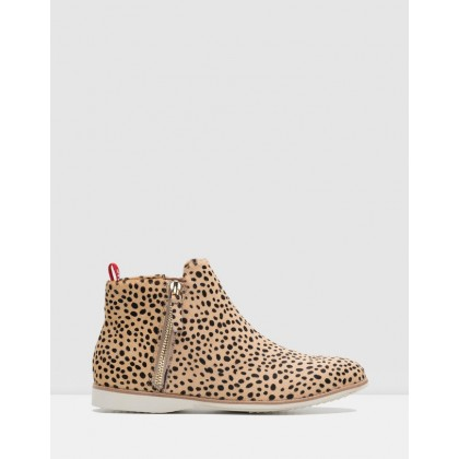 Side Zip Boots Cheetah by Rollie