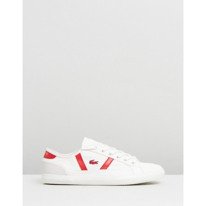 Sideline - Women's Off-White & Red by Lacoste