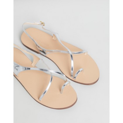 Sierra Leather Sandals Silver Leather by Atmos&Here