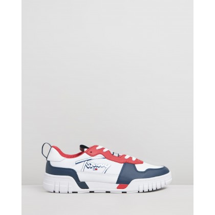 Signature Sneakers - Men's Red, White & Blue by Tommy Jeans