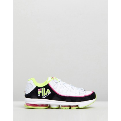 Silva Trainers - Women's White, Black & Fuchsia Purple by Fila