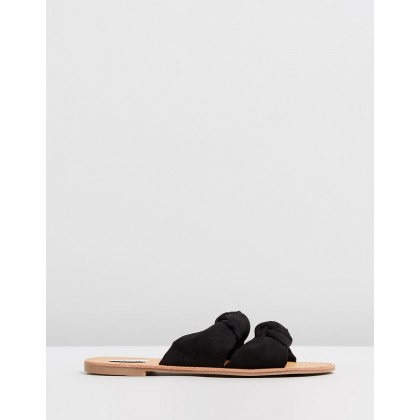 Simi Valley Slides Black Microsuede by Dazie