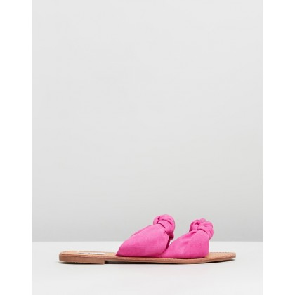 Simi Valley Slides Fuchsia Pink Microsuede by Dazie