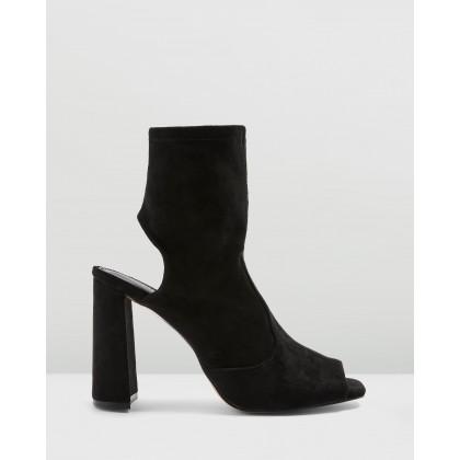 Sindy Stretch Zip Heels Black by Topshop