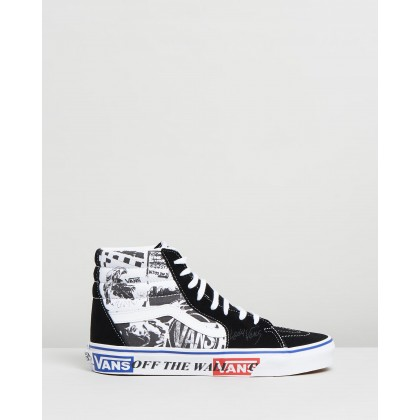Sk8-Hi Lady Vans - Women's Black & True White by Vans