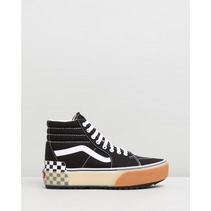 Sk8-Hi Stacked - Women's Black & Checkerboard by Vans