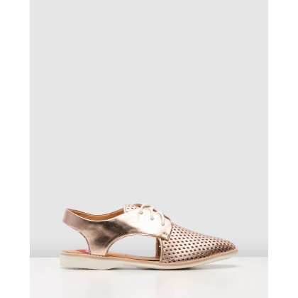 Slingback Punch Shoes Rose Gold by Rollie