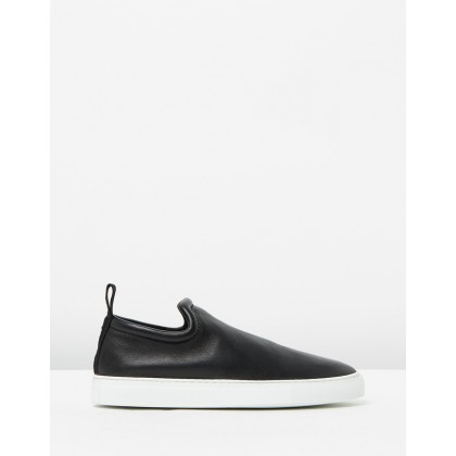 Slip-On Sneakers Nappa Stretch Black by Joseph