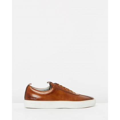Sneaker 1 Tan Hand-Painted Calf by Grenson