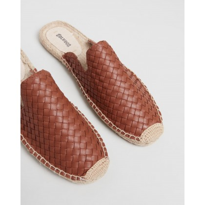 Sofia Woven Espadrille Mules Cognac by Soludos