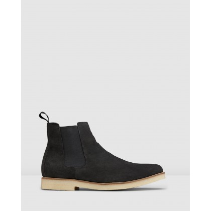 Soho Chelsea Boots Charcoal by Aq By Aquila
