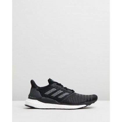 Solar Boost - Men's Core Black, Grey Four & Footwear White by Adidas Performance