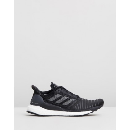 Solar Boost - Women's Core Black, Grey Four & Footwear White by Adidas Performance