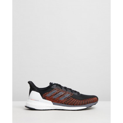 Solarboost ST 19 - Men's Core Black, Grey Five & Solar Orange by Adidas Performance