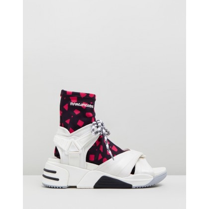 Somewhere Sport Sock Sandals White by Marc Jacobs