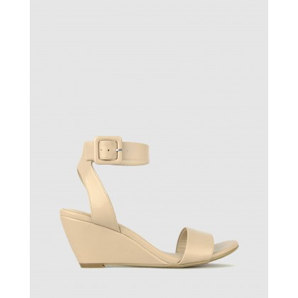 Sonny Wedge Heel Sandals Nude by Betts
