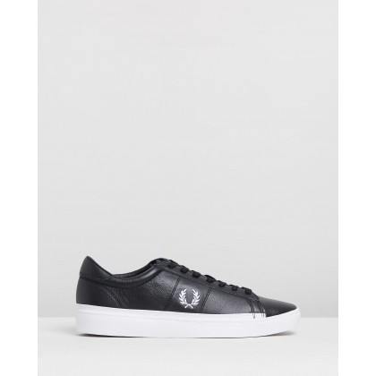 Spencer Leather Black & White by Fred Perry
