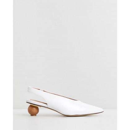 Spheric Patent Pumps Ivory by Jaggar The Label