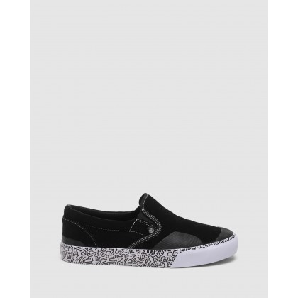 Spike Slip On Shoes Black/White by Element