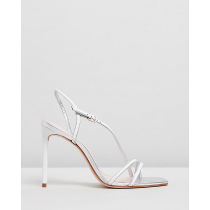 Square Toe Heels White by Schutz