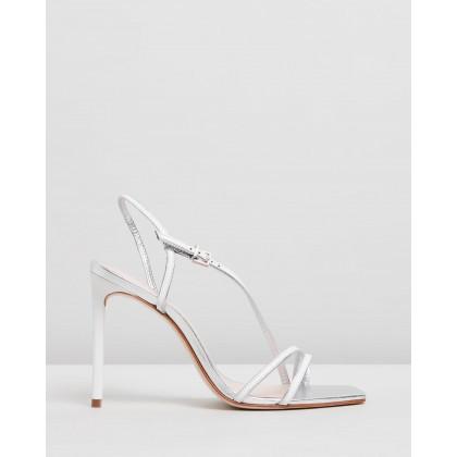 Square Toe Heels White by Schutz