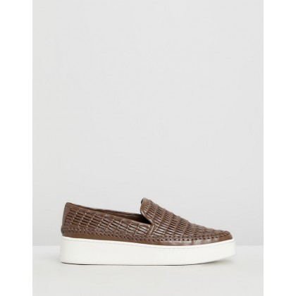 Stafford Leather Sneakers Tan by Vince