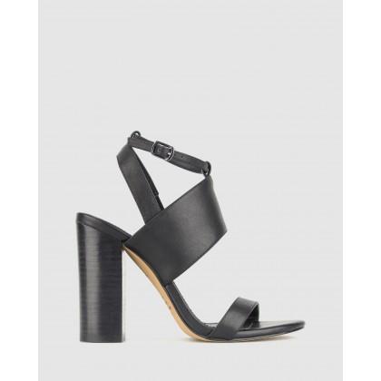 Static Block Heel Sandals Black by Zu