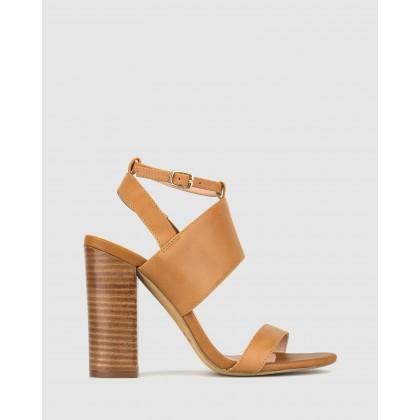 Static Block Heel Sandals Tan by Zu
