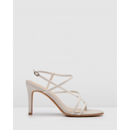 Stella High Heel Sandals Bone Leather by Jo Mercer