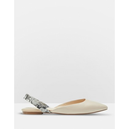 Stella Leather Flats Pink by Oxford