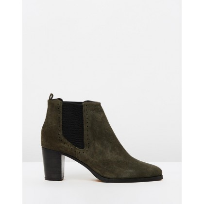 Stellar Chelsea Suede Boots Olive Green by Royal Republiq