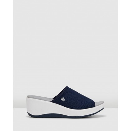 Step Cali Bay Navy Textile Knit by Clarks