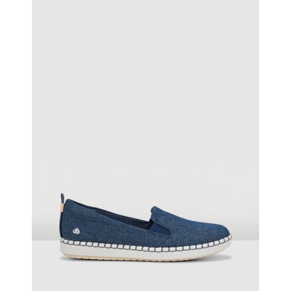 Step Glow Slip Denim Blue by Clarks