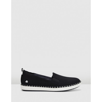 Step Glow Slip Black Canvas by Clarks