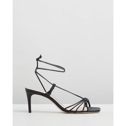 Strappy Square Toe Heels Black by Schutz