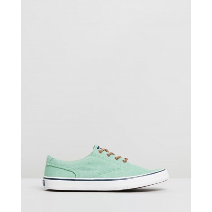 Striper II CVO Oxford Shirt Sneakers Green by Sperry